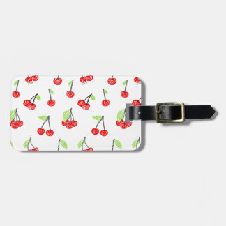 Small cherries luggage tag