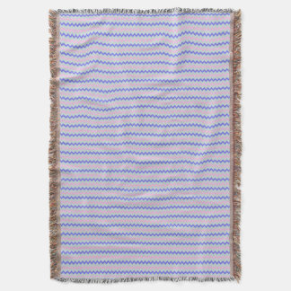 Small chevron pattern pink blue throw blanket
