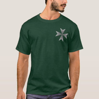 Small Chrome Maltese Cross T-Shirt