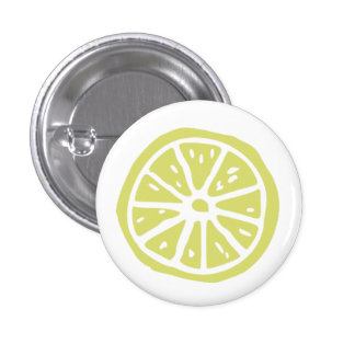 Small citrus print round button (1¼ Inch)