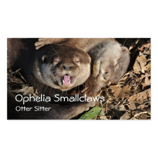 Small clawed otters business card