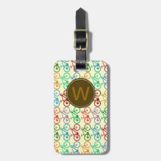 small color bicycles luggage tag