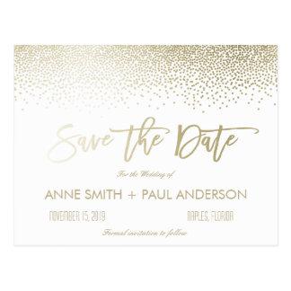 Small Confetti Save the Date Postcard