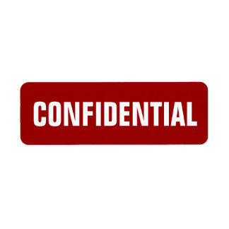 Small Confidential Stickers