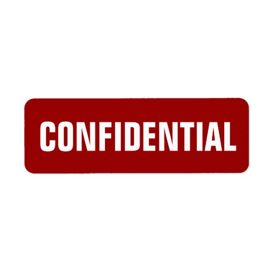 Small Confidential Stickers Return Address Label