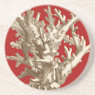 Small Coral in Red Coaster