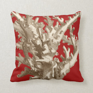 Small Coral in Red Cushion