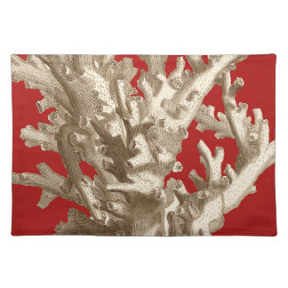 Small Coral in Red Placemat