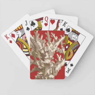 Small Coral in Red Playing Cards