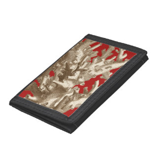 Small Coral in Red Trifold Wallet
