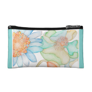 Small Cosmetic Bag with floral retro design