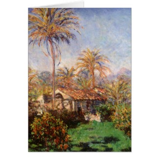 Small Country Farm in Bordighera by Claude Monet Card