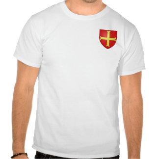 Small Crusader Coat of Arms (Style 3) Tshirts