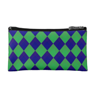 Small cultural bag with lozenge sample in blue cosmetic bag
