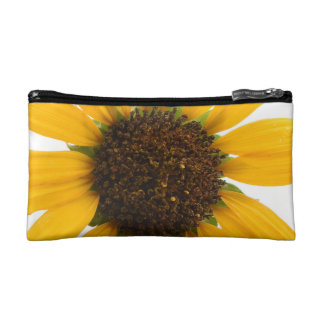 Small Custom Yellow White  Wildflower Cosmetic Bag