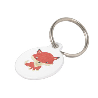 Small Cute Baby Fox Customized Pet Tag
