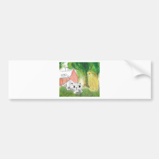 small cute cat with mom bumper stickers