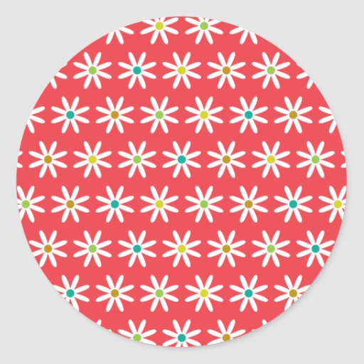 Small Daisy Dots II Stickers