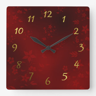 small delicate Asian flowers on a festive clock