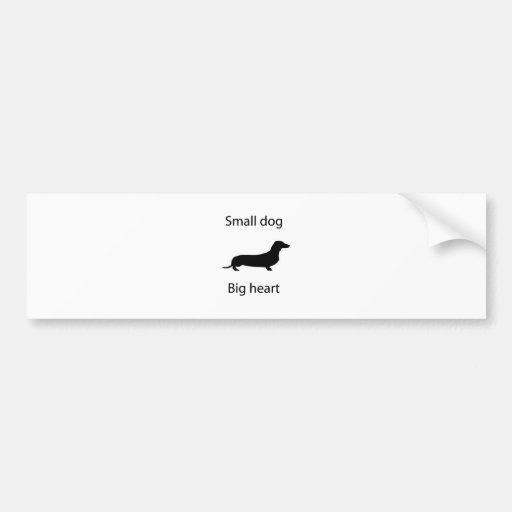 Small dog big heart bumper stickers