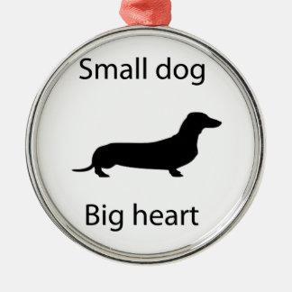 Small dog big heart christmas ornament