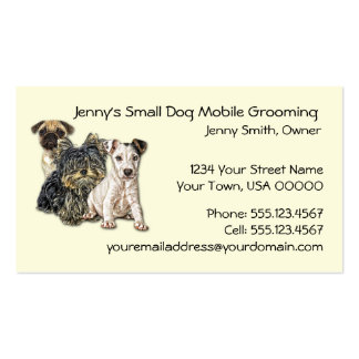 Small Dog Mobile Grooming 2012 Calendar Business C Pack Of Standard Business Cards