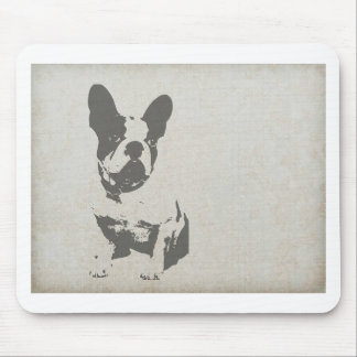 Small Dog Print graphic Mouse Pad