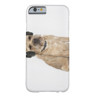 Small dog wearing headphones barely there iPhone 6 case