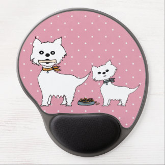 small dogs gel mouse pad