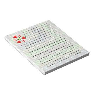 Small dots on abstract pattern notepad