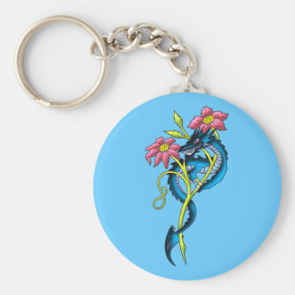 small dragon small dragon basic round button key ring