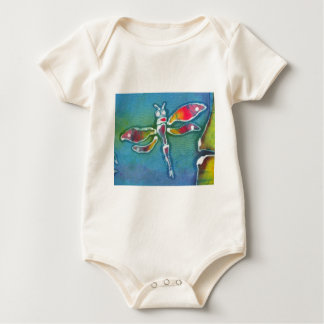 small dragonfly baby bodysuit