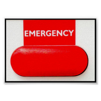SMALL EMERGENCY BUTTON POSTER