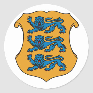 Small  Estonia, Estonia Classic Round Sticker