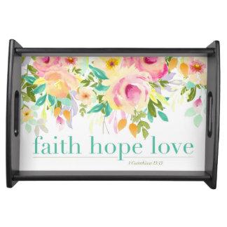 SMALL | Faith Hope Love | 1Cor. 13:13 Serving Tray