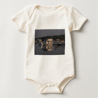 Small Fishing Boat Baby Bodysuit