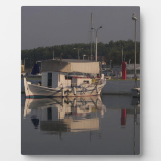 Small Fishing Boat Photo Plaques