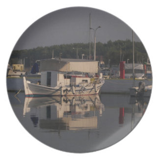 Small Fishing Boat Plate