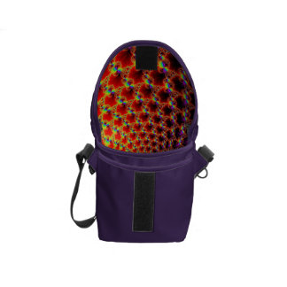 Small Flap Bag, Rainbow Colored, Fractal Design Commuter Bags