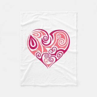 Small Fleece Blanket - Large Heart