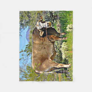 Small Fleece Blanket - Sonoran Brown Cow