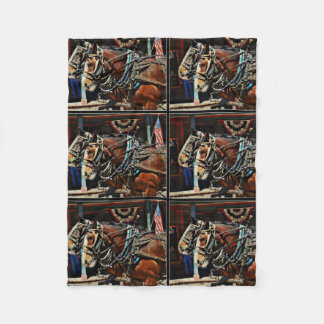 Small Fleece Blanket - Tombstone Horses