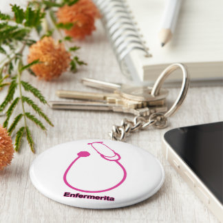 Small Fonendo Basic Round Button Key Ring