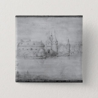 Small fortified island, Amsterdam, 1562 15 Cm Square Badge