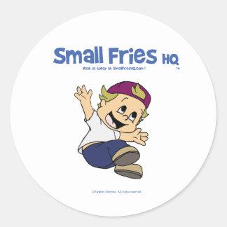Small Fries HQ Albert Sticker Round