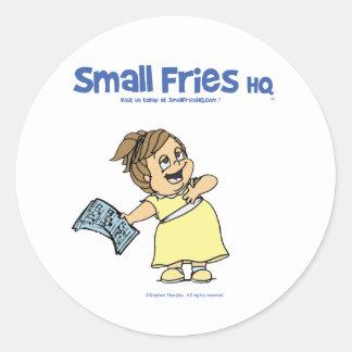 Small Fries HQ Angela Sticker Round