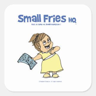 Small Fries HQ Angela Sticker Sq