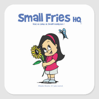 Small Fries HQ Becky Square Square Sticker