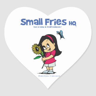 Small Fries HQ Becky Sticker Heart