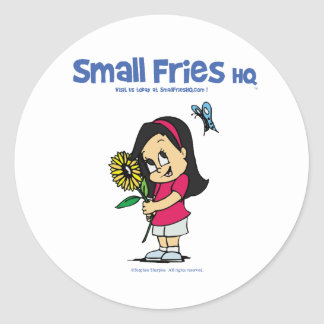 Small Fries HQ Becky Sticker Round
